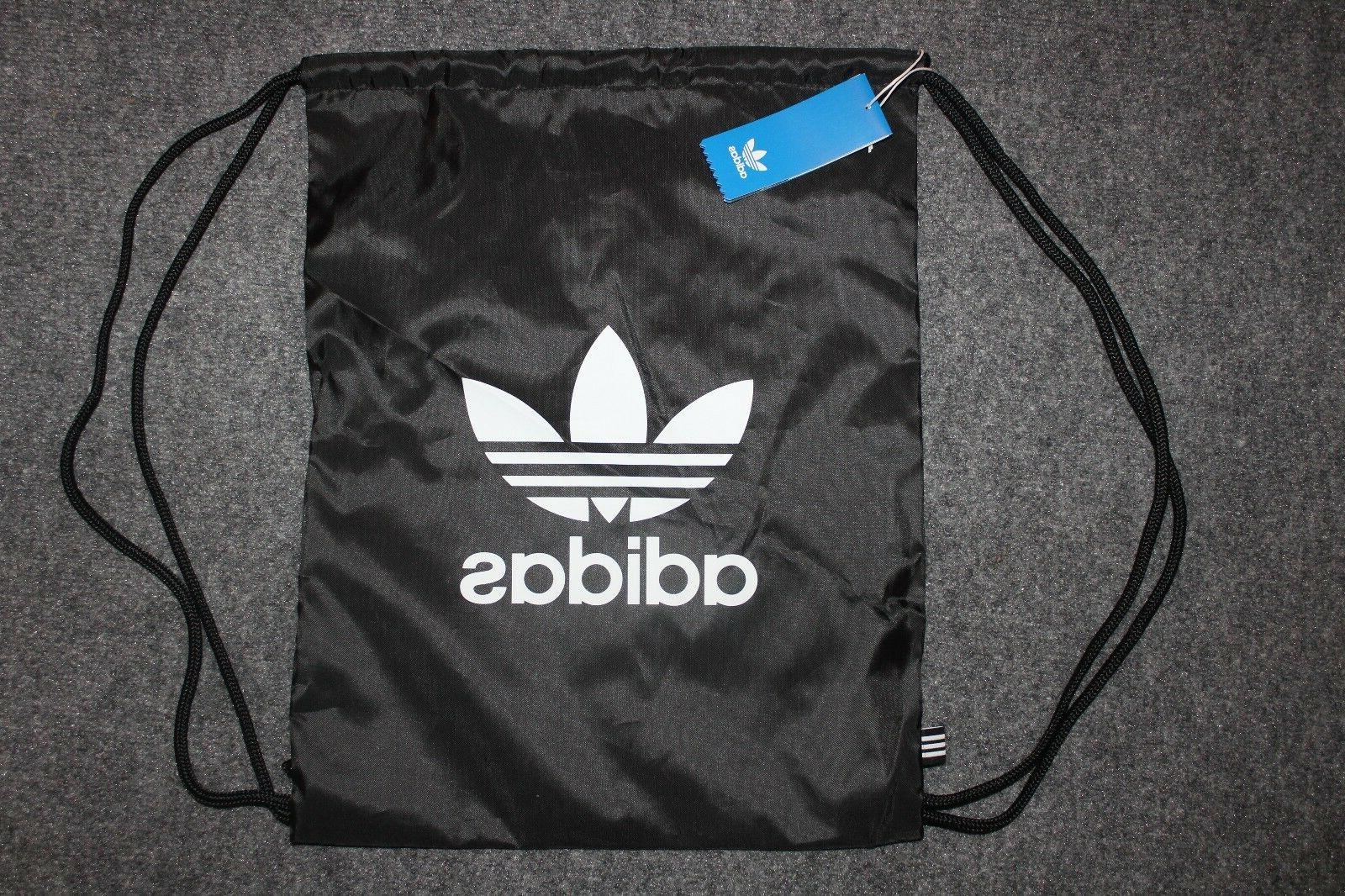 NEW ADIDAS ORIGINALS TREFOIL GYMSACK DRAWSTRING BACKPACK BAG #BK6726