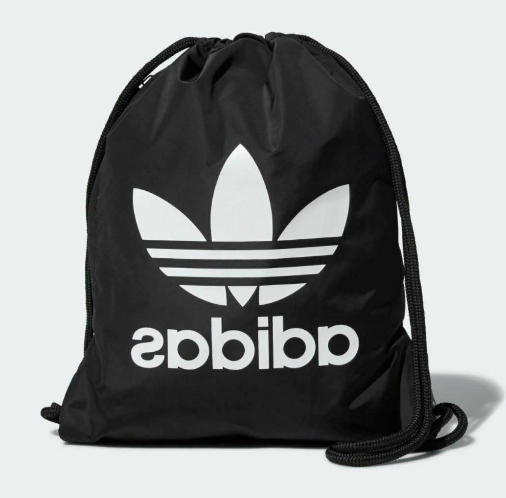 NEW ADIDAS ORIGINALS TREFOIL GYMSACK DRAWSTRING BACKPACK BAG