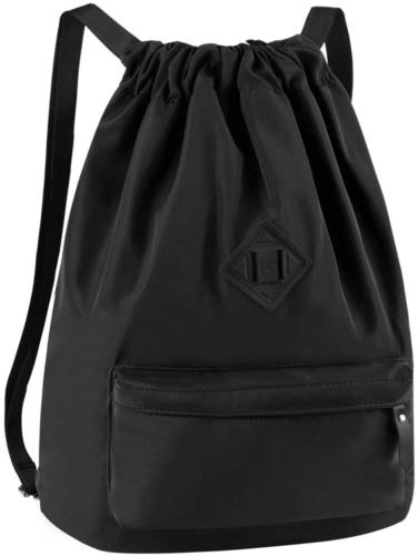 Vbiger Unisex Drawstring Backpack Chic School Shoulders Bag