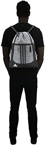 adidas II Sackpack, Onix Jersey/Black/White, One Size