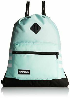 adidas Classic 3S Sackpack, Clear Mint, One Size