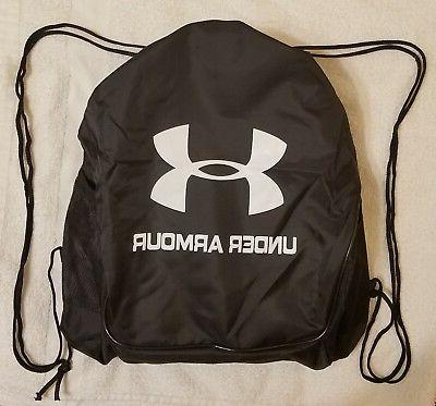 black drawstring backpack sport gym school sack