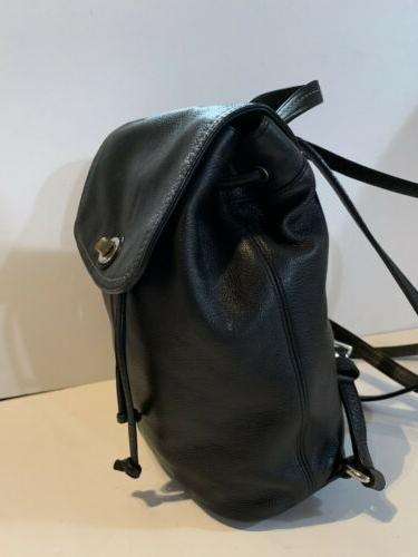 COACH BLACK BACKPACK Drawstring Bag Purse Daypack
