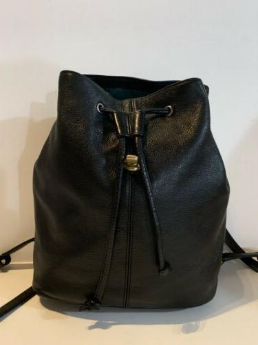 COACH LEATHER BACKPACK Drawstring Bag Purse Daypack
