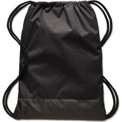 NIKE BRASILIA BLACK/WHITE DRAWSTRING BAG