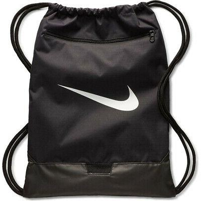 brasilia 9 gymsack black white drawstring bag
