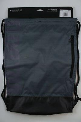 NIKE GRAY/BLACK/WHITE DRAWSTRING BAG BACKPACK GYM SACK BA5338