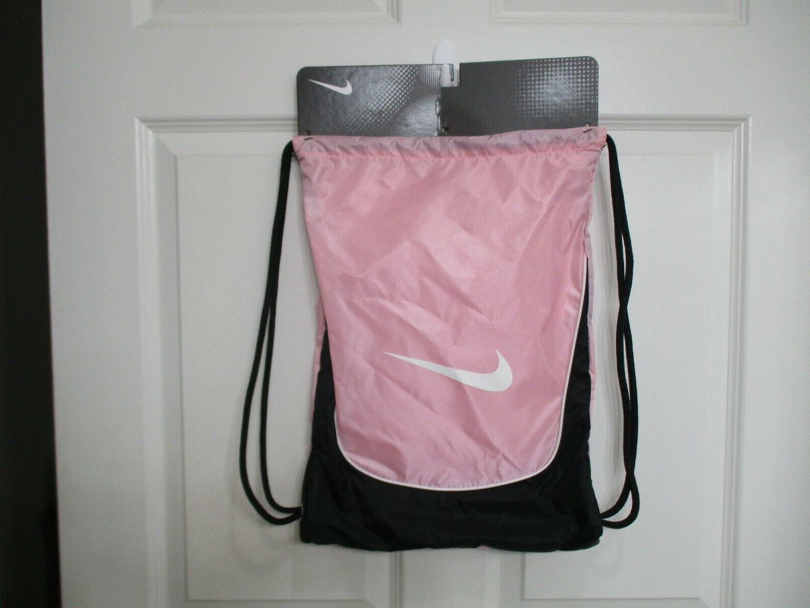 NIKE BRASILIA GYMSACK pink, black DRAWSTRING GYM BAG BACKPAC