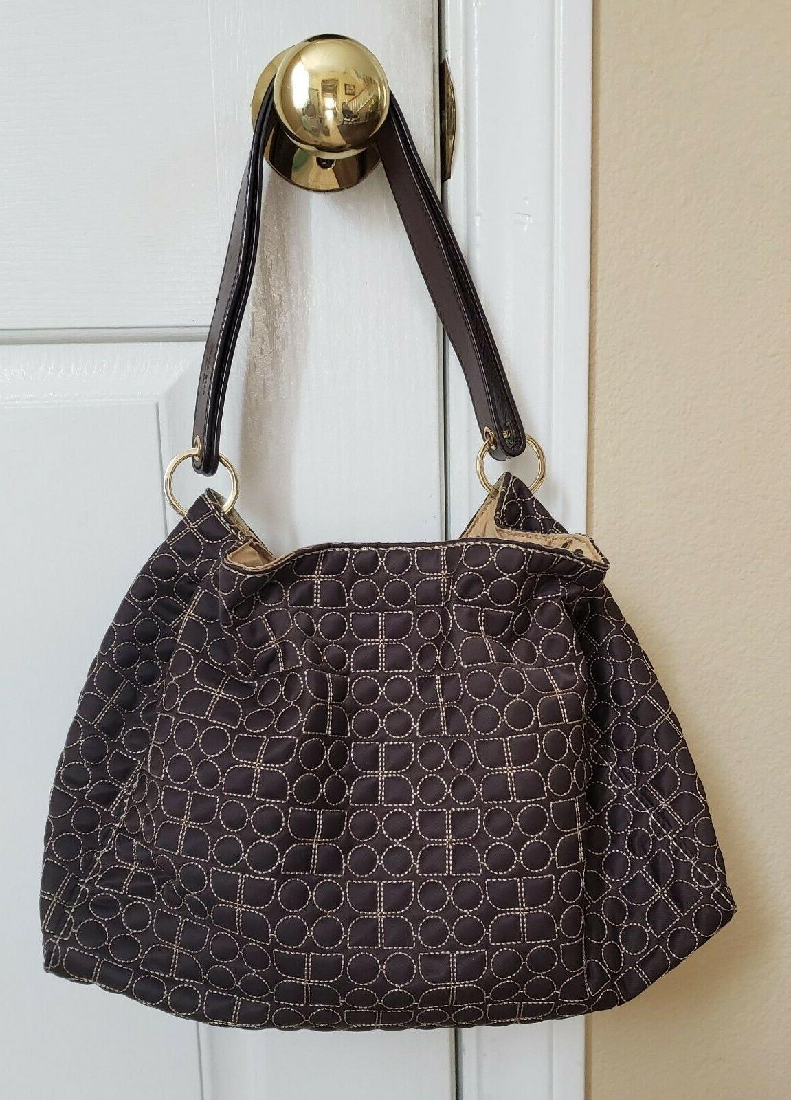 Kate Brown Drawstring Shoulder Bag