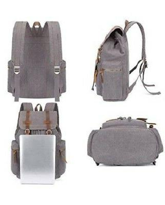 BLUBOON Vintage Leather Casual Rucksack