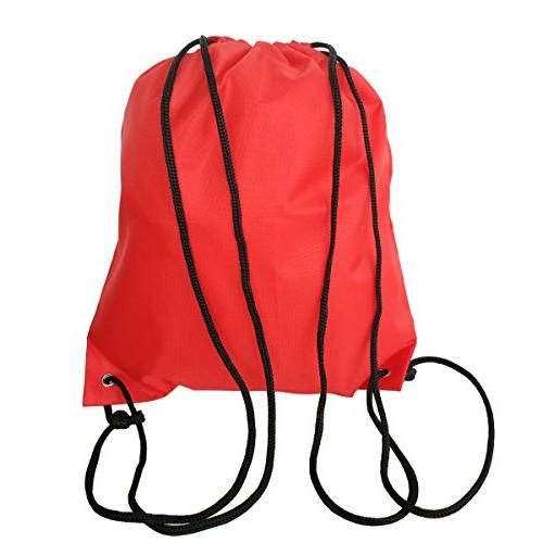 6 Pack Drawstring Backpack Bags 420D polyester fabric Folding
