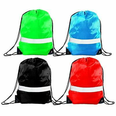 Drawstring Bag 12 Reflective Sack Sport Gym Fabric