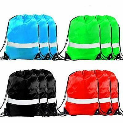 drawstring backpack bag 12 pack reflective sack