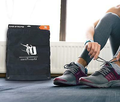 Drawstring Black Sport Travel Nylon Utopia