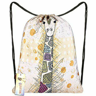 drawstring backpack bag sackpack gym sack sport