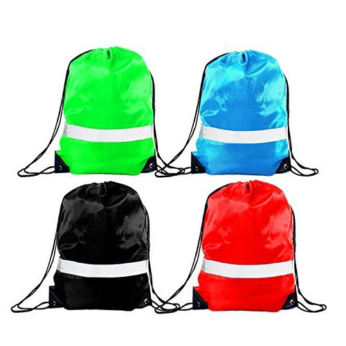 Drawstring 12 Pack Reflective Sack Backpack Bag Backpacks