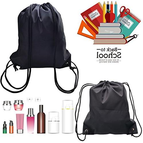 Topspeeder 6 Backpack Bags, Fabric Sack Cinch Picnic Gym Travel Storage