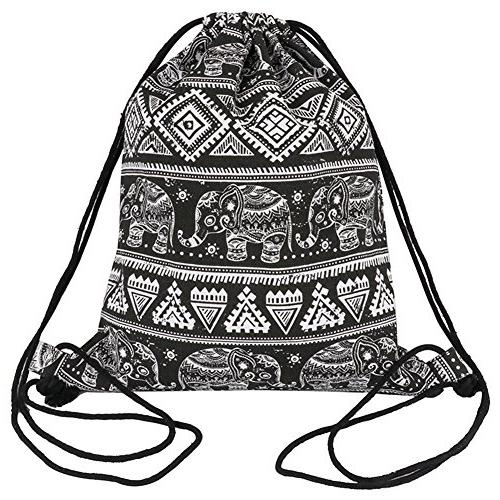 drawstring backpack canvas bag