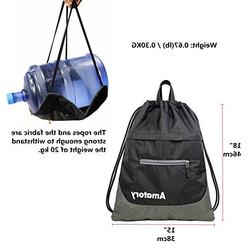 Drawstring Backpack Sports Athletic Gym Sack Sackpack