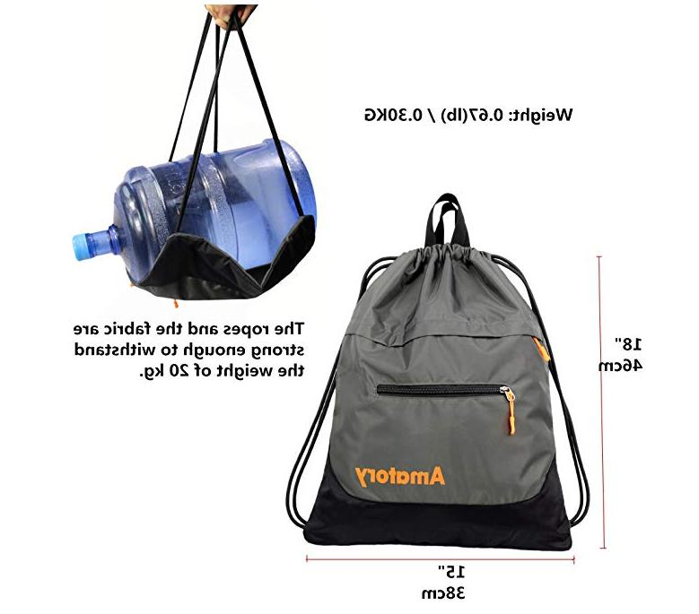 Drawstring Backpack Gym Bag Sack