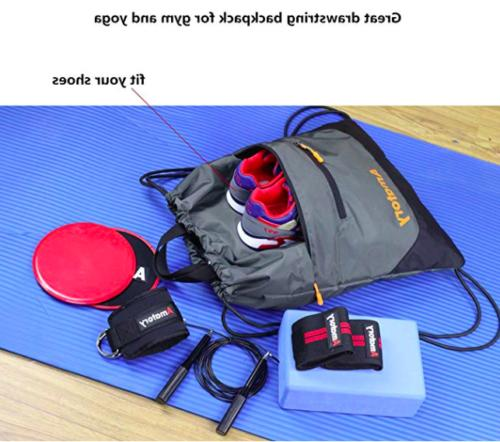 Drawstring Backpack Sports String Bag Gymsack