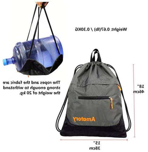 Drawstring String Sack Gymsack Waterproof