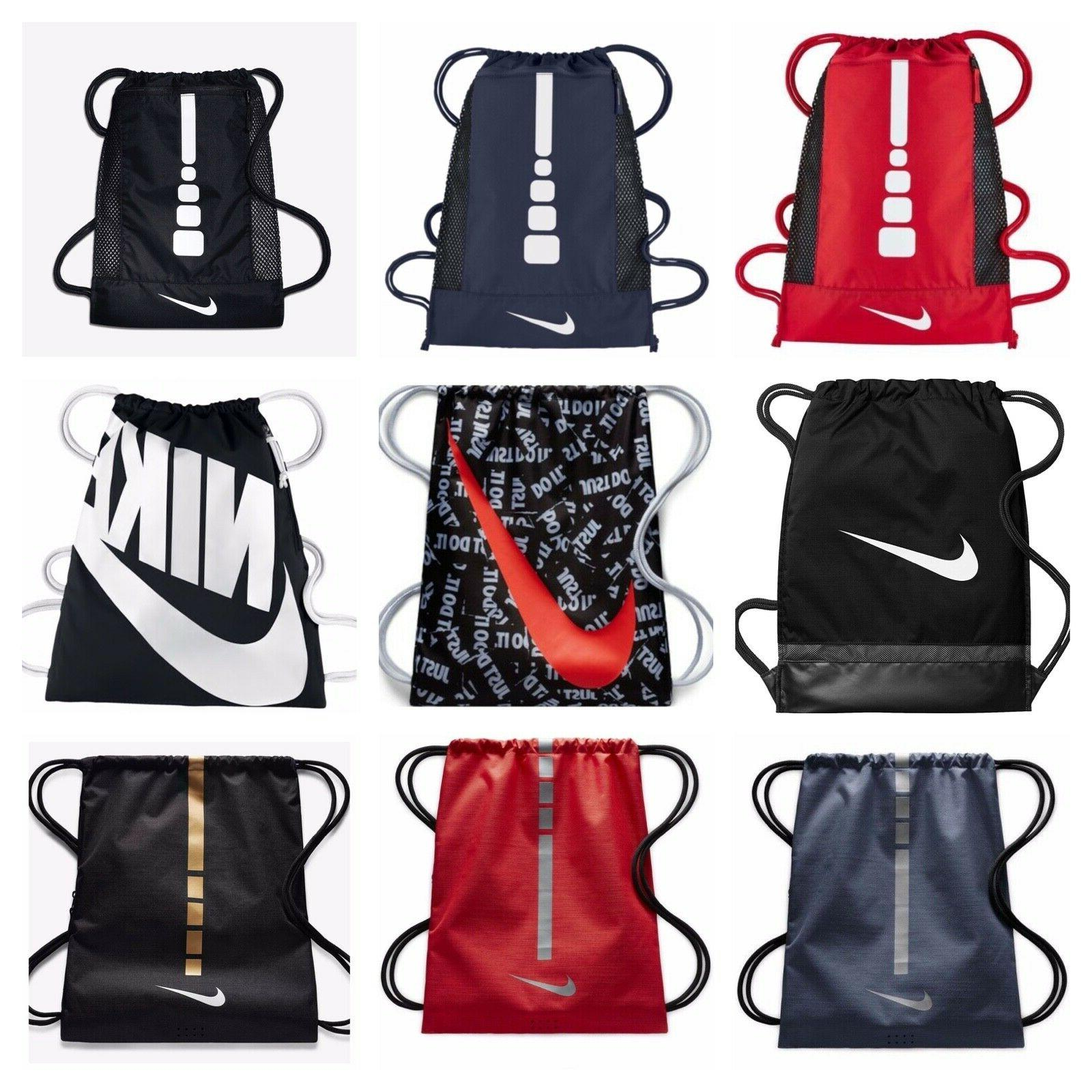 hoops elite stripe basketball drawstring gym sack