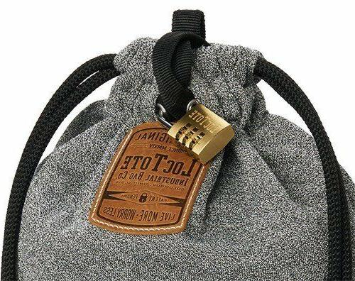 Loctote Industrial Theft-Resistant Drawstring Backpack