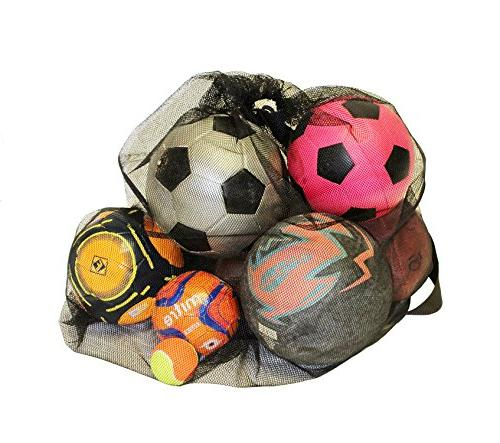 Get Out! Large Mesh Backpack Soccer Sports Equipment, Gym Bag