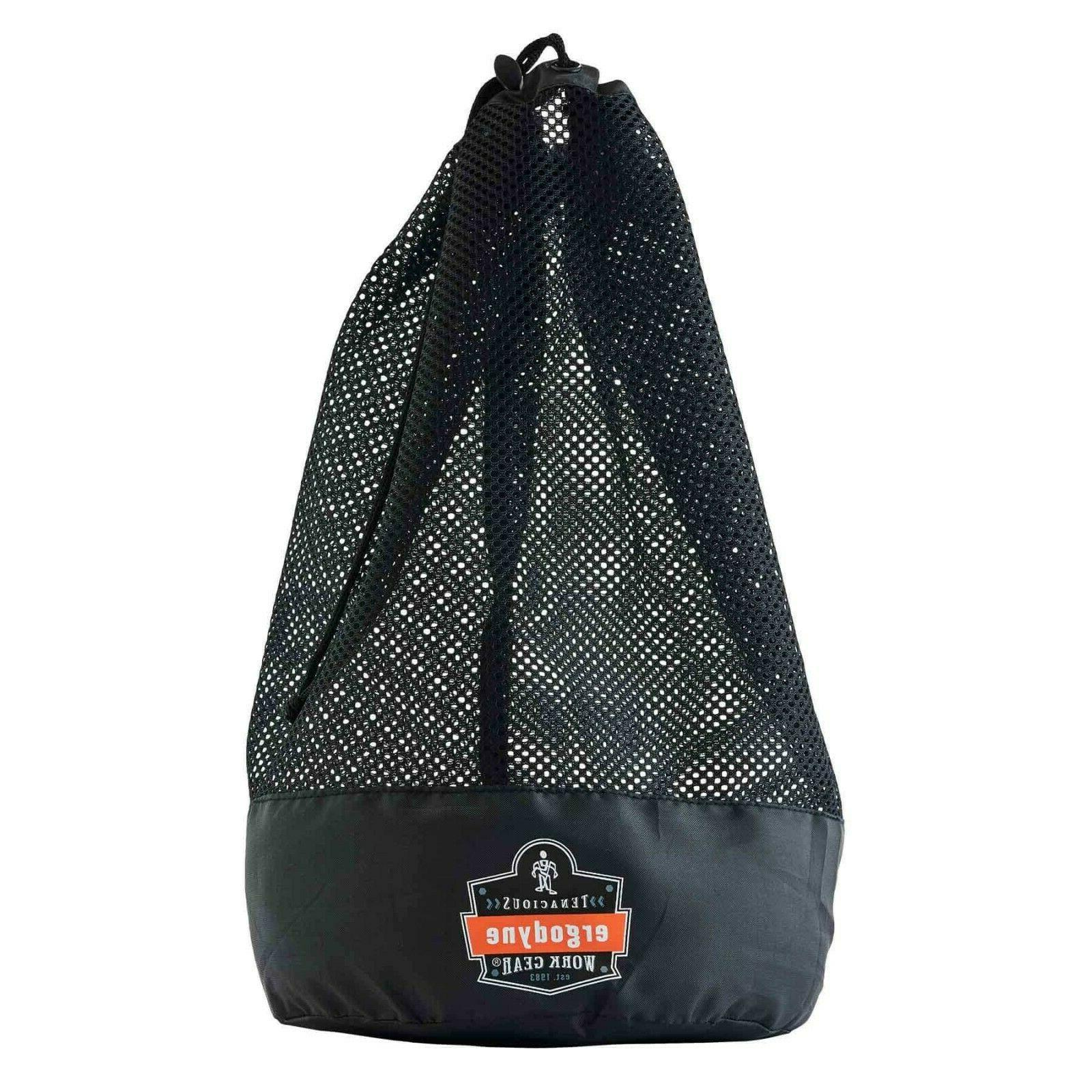 mesh drawstring bag black new fast shipping
