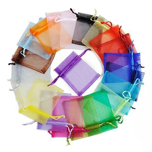 mix party favor bags organza