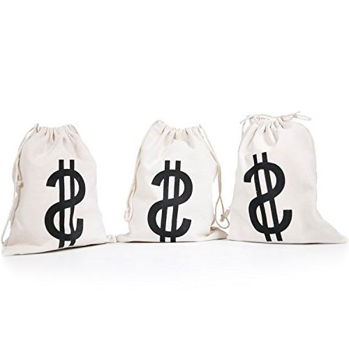 money bag inches canvas drawstring