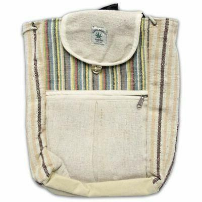 Natural Hemp Small Backpack Bag Daypack, 15 10 Inches