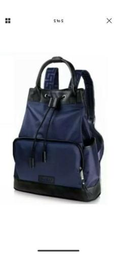 NEW! AUTHENTIC Versace Parfums Backpack Black/Blue Drawstrin
