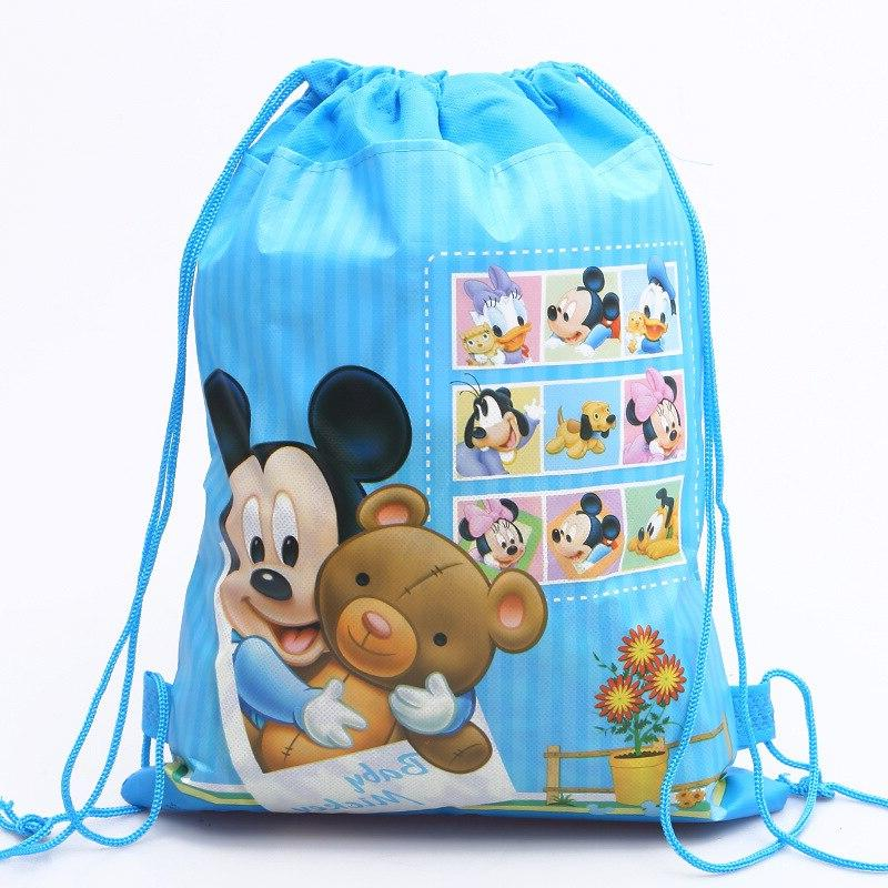 Disney new cartoon mouse pattern double-sided non-woven <font><b>bag</b></font> school