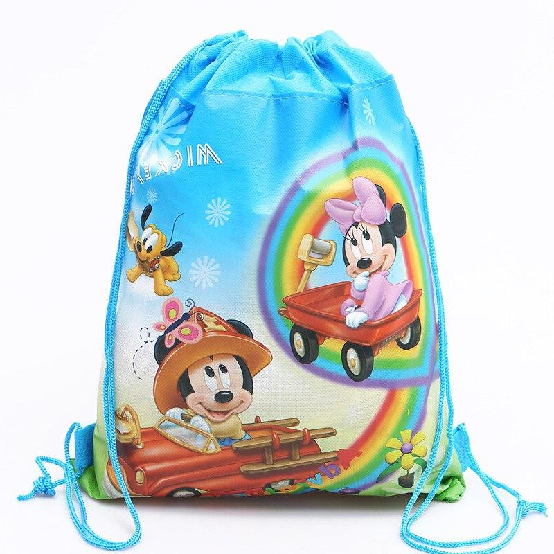 Disney new cartoon mickey mouse double-sided non-woven <font><b>bag</b></font> school children gift