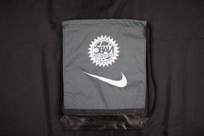 new gray nabc drawstring bag one size