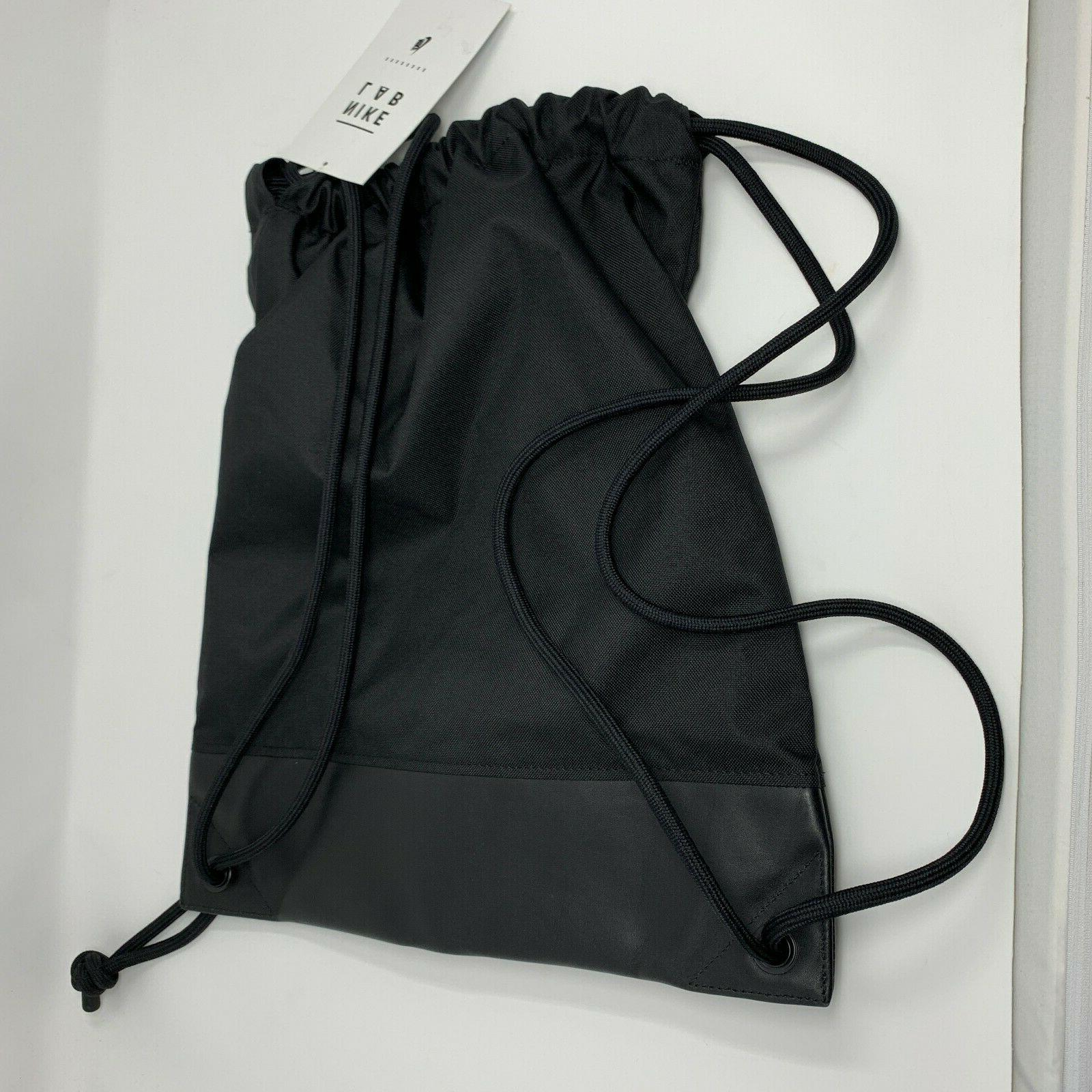 NikeLab Gym Sack Black Drawstring Unisex 17'' X 15''
