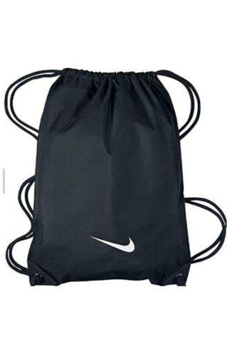 custom black nylon gym bag nap sack