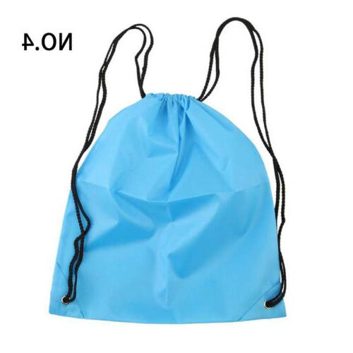 Nylon Drawstring Backpack String Waterproof Outdoor Sports Travel