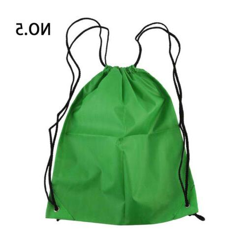 Nylon Backpack String Sackpack Outdoor Sports Travel