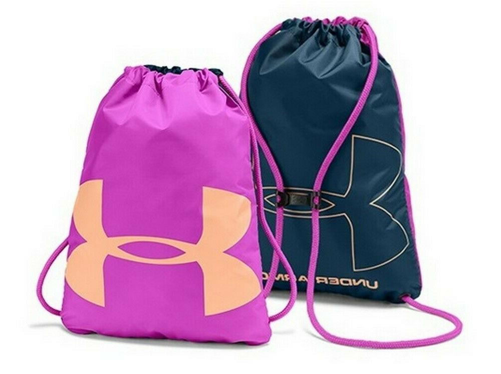 Under UA Drawstring Backpack Bag Fuchsia/Teal/Peach