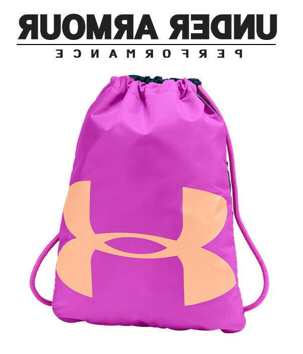 Under Ozsee UA Drawstring Bag Fuchsia/Teal/Peach