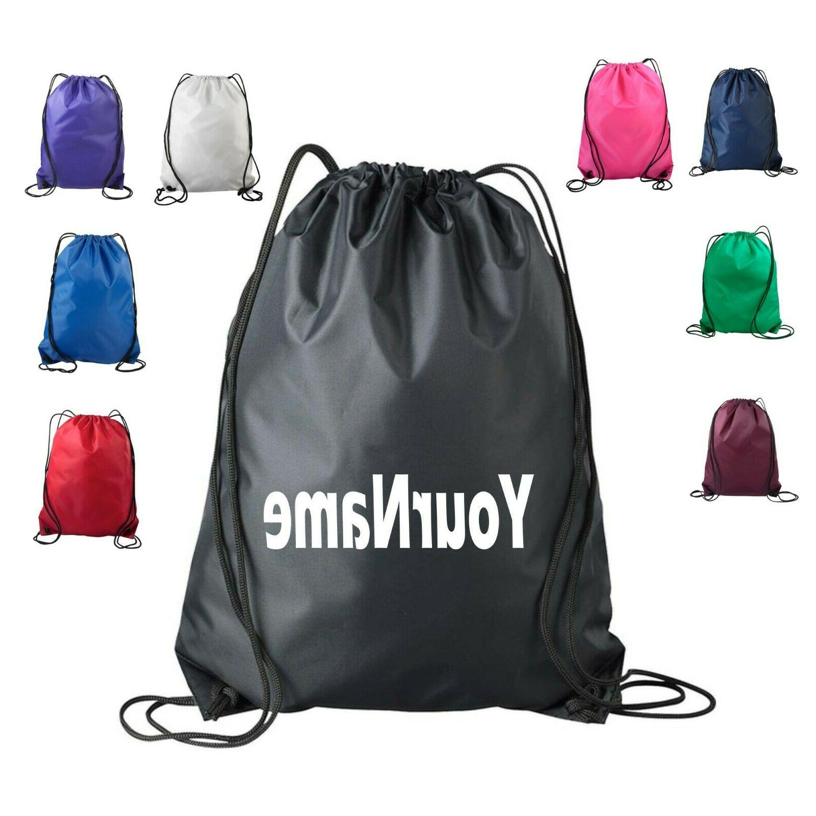 personalized drawstring bag cinch backpack tote pack
