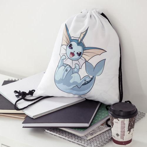 Pokemon Cinch String Travel School Gym Tote Bag