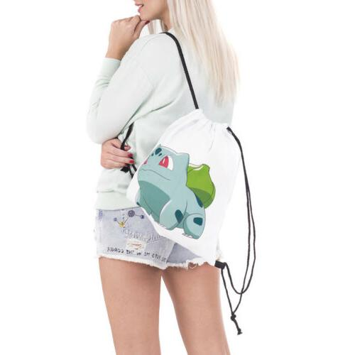 Pokemon Cinch String Travel Gym PE Shoe Bag