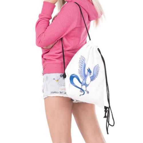 Pokemon Cinch String Drawstring Travel School Gym Tote Bag