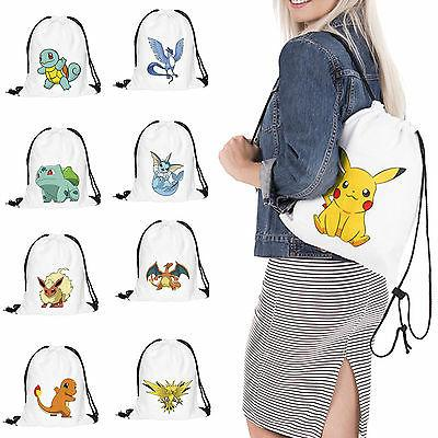pokemon cinch sack backpack string drawstring travel