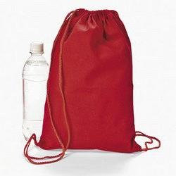 Red Drawstring Backpacks  - BULK
