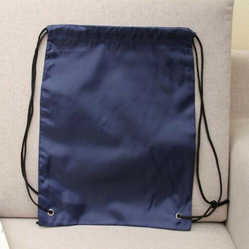 String Drawstring Sack Pack Bag Gym School Sport Bag